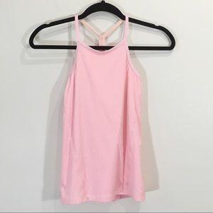 Ivivva Size 10 Spilt Back Tank Top Sports bra Pink